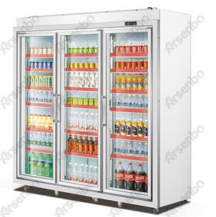 雅绅宝三门分体展示冷藏冰柜 立式超市冷柜 商用展示柜