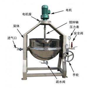 食品卤煮设备 食品蒸煮锅生产厂家,不锈钢炒锅糸列