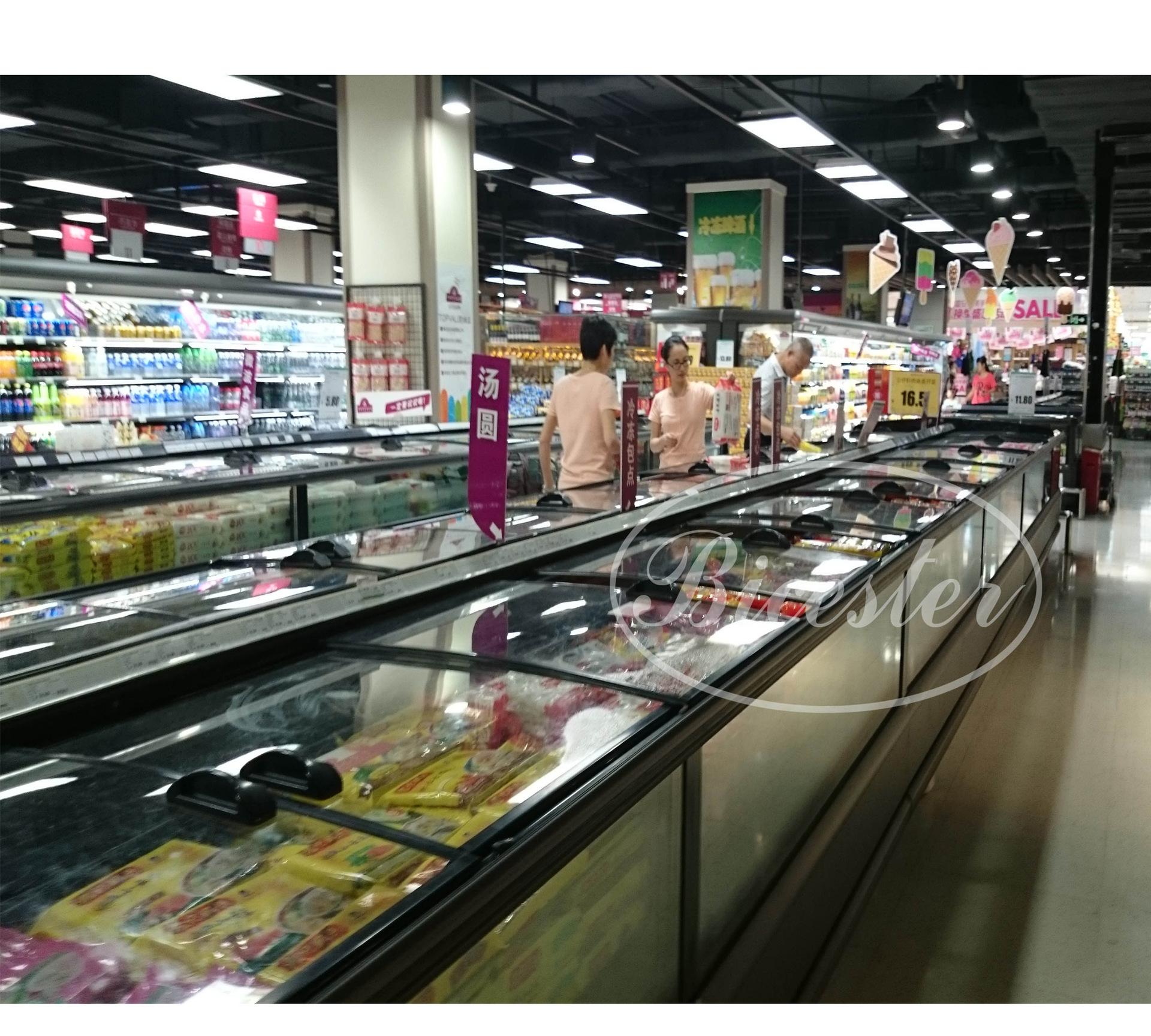 卧式冷冻柜 超市/汤圆水饺冷冻展示冰柜 风冷无霜冷藏
