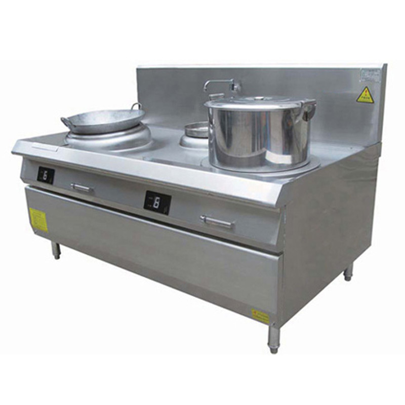 赛的商用电磁炉汤炒组合炉 节能双头汤炉炒炉 燃气炒炉生产供应
