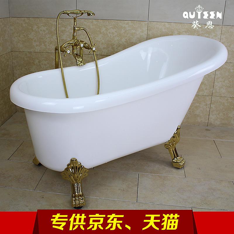 厂家直供亚克力按摩高档欧式古典贵妃浴缸酒店浴盆独立式明星同款