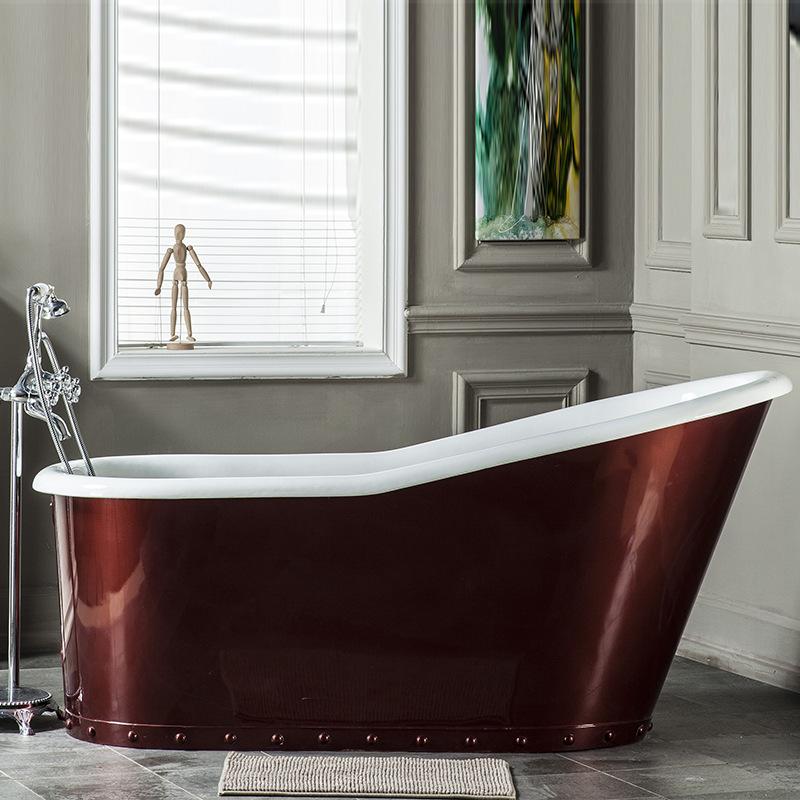 厂家直销 欧式古典仿古独立式浴缸/ 适用于酒店工程带