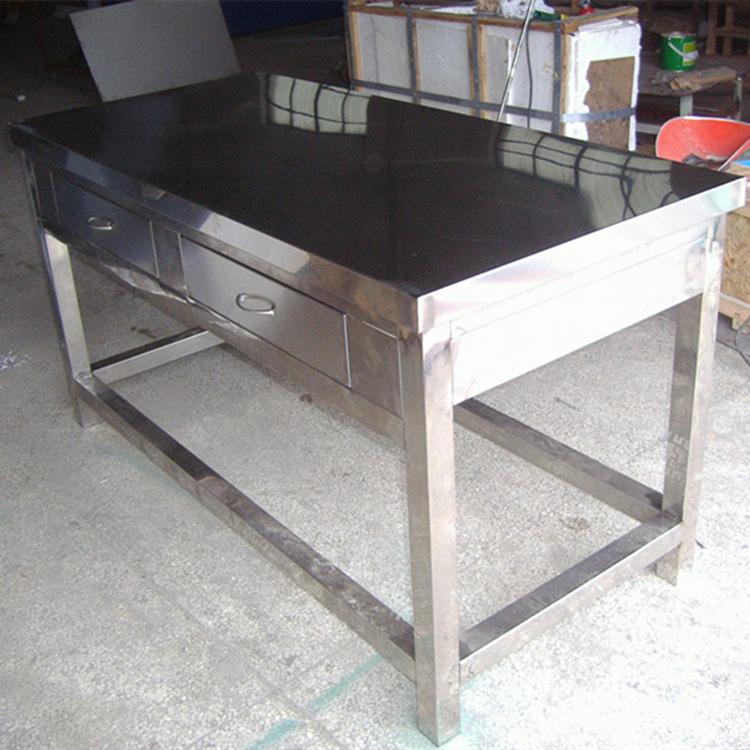 供应不锈钢桌子,不锈钢台子,工作台,操作台,不锈钢工作台面图片