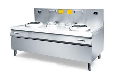 商用厨房设备 双炒双尾电磁灶