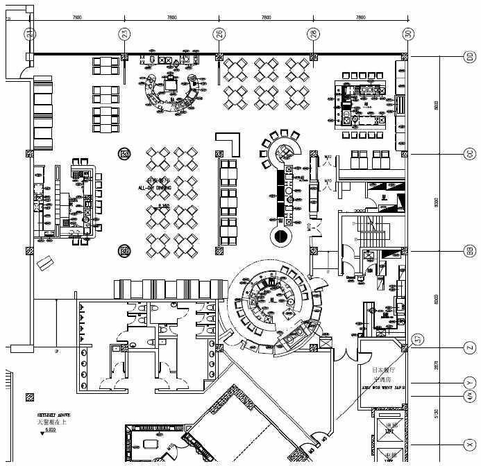 2015酒店饭店厨房设计平面图赏析