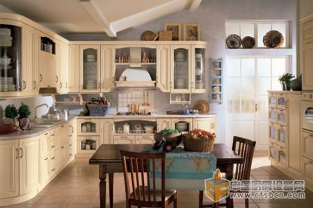 2013复古厨房装修效果图 古典怀旧中还带着简约美