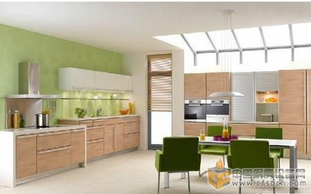 2013田园风厨房装修效果图 开放式厨房温馨的家