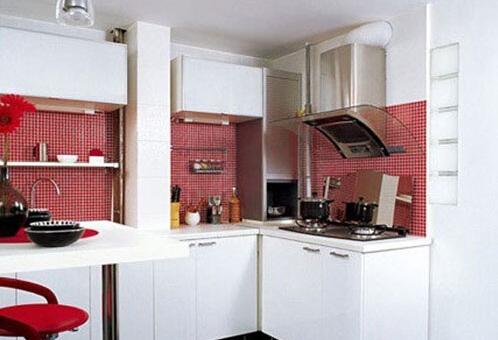 资讯 行业动态 正文  简约厨房设计说明:绿色的外墙砖用来铺贴厨房的
